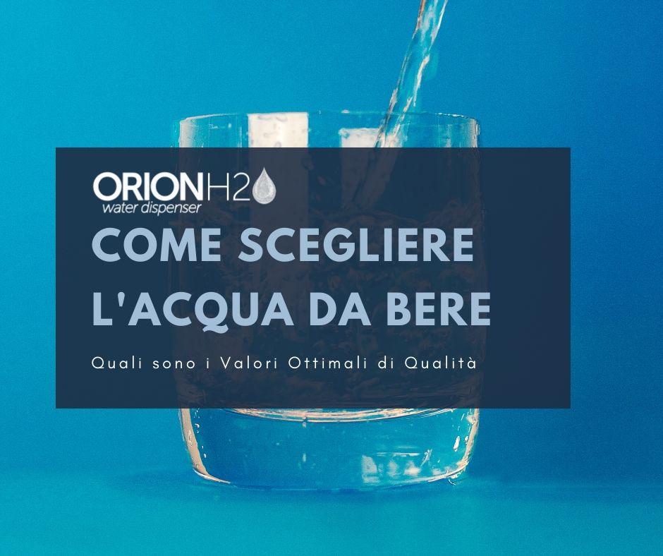 acqua da bere valori ottimali