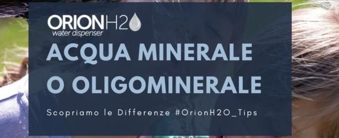 acqua minerale oligominerale